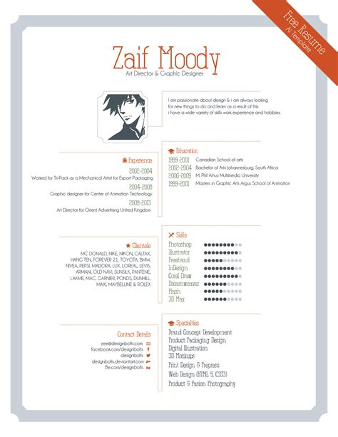 resume for graphic designers free resume template for graphic designers illustrator