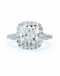 cushion cut diamond engagement rings martha stewart weddings With cushion cut wedding rings