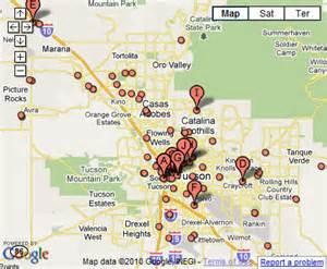 Pima County Tucson Arizona Map
