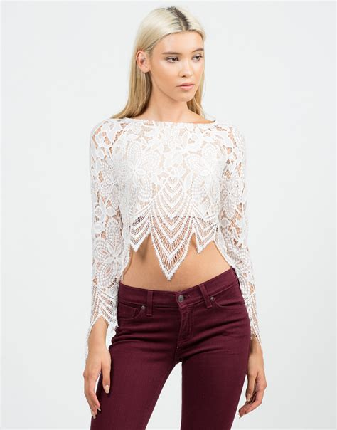 Trendy Lace Crop Top Fashion Looks For Young Girls