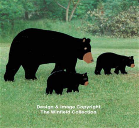 yard art woodcraft plans mother bear cub woodcraft plan