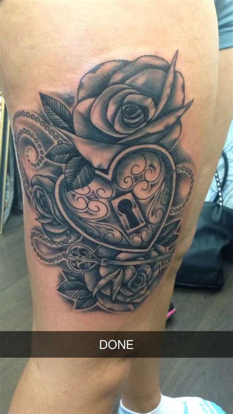 rose  heart locket tattoo tattoos pinterest tat lockets  heart locket