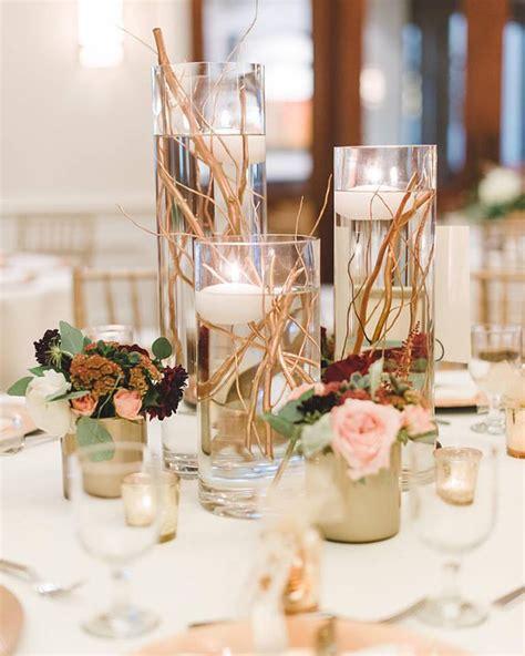 elegant gold stemmed wedding centerpieces bigdiyideascom