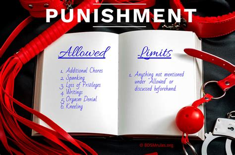 BDSM Rules and Ideas for Punishment
