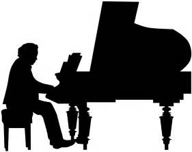 Piano Player Silhouette   Free vector silhouettes