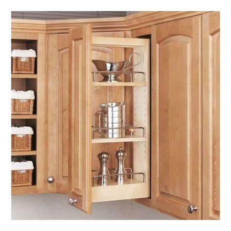 rev  shelf pull   adjustable kitchen storage wood