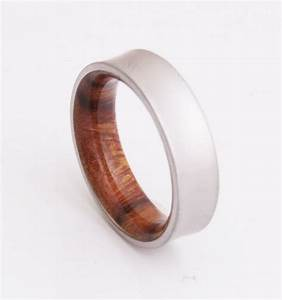 titanium and iron wood mens wood rings wood wedding With iron wedding ring