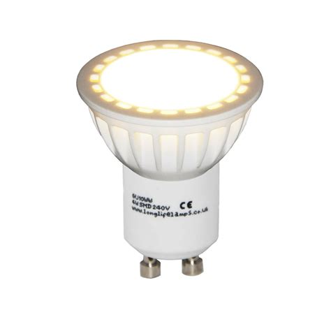 led len gu10 4w gu10 led frosted cover lens replacement for halogen bulb warm or cool white ebay