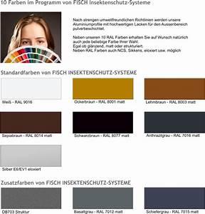 Ncs Farben Ral Farben Umrechnen : insektenschutz fisch ral farben aluminiumprofile ~ Frokenaadalensverden.com Haus und Dekorationen