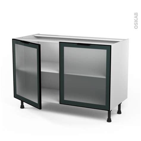 changer facade meuble cuisine meuble bas cuisine façade alu vitrée 2 portes