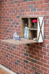 DIY White & Wood Outdoor Serving Station - Erin Spain