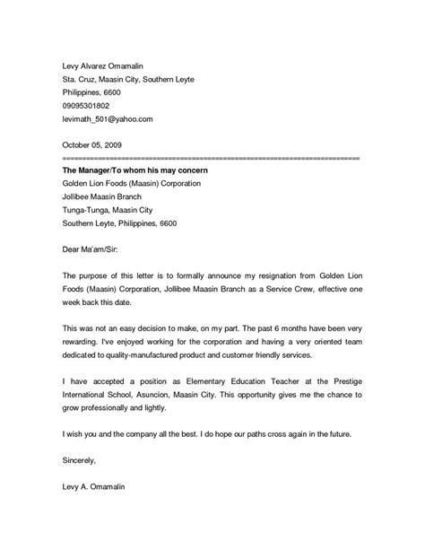 Resignation announcement letter - this resignation announcement letter to let co-workers know