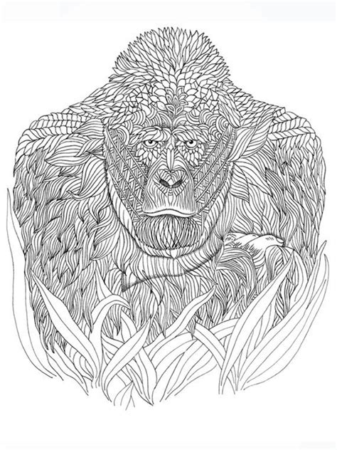 gorilla coloring page animal coloring pages mandala coloring pages cool coloring pages