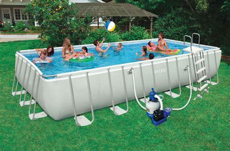 piscine hors sol rectangulaire intex 7m32 x 3m66 x 1m32 silver bac d 233 sinfectant pour pieds