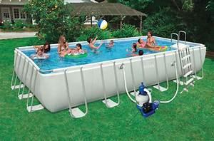 Piscine Hors Sol Rectangulaire Intex : piscine hors sol rectangulaire intex 7m32 x 3m66 x 1m32 silver bac d sinfectant pour pieds ~ Melissatoandfro.com Idées de Décoration