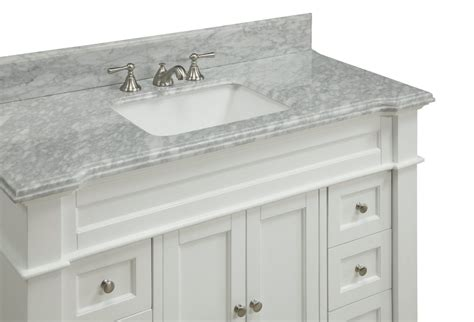 Adelina Inch Bathroom Vanity White Finish Carrara