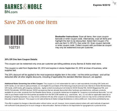 barnes and noble email coupon barnes and noble coupon code for members mission