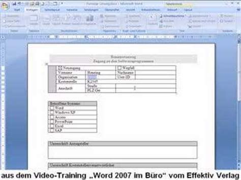 word  formular erstellen youtube