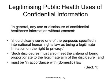 European Standards On Confidentiality And Privacy In