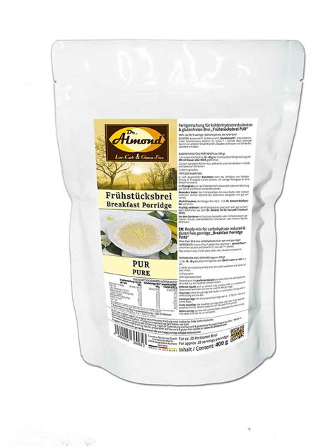 porridge carb breakfast low pure vegan glutenfree lowcarb