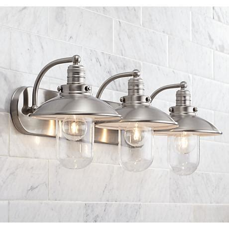 downtown edison 28 1 2 quot wide brushed nickel bath light