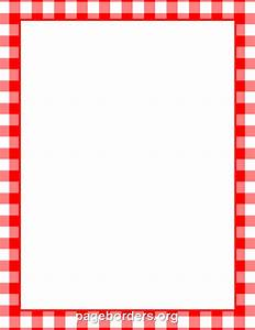 printable menu border with a red and white gingham pattern With menu borders template