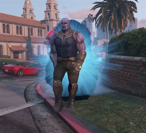 gta  thanos script mod features infinity gauntlet turns