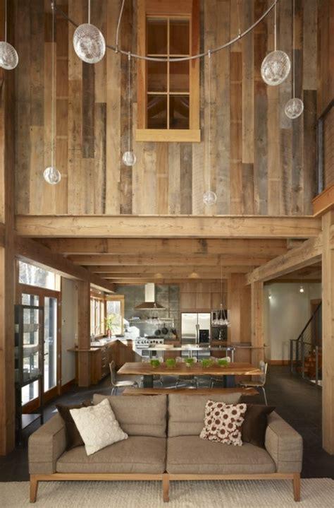 les canap駸 en bois quel type d intérieur pour votre chalet en bois habitable
