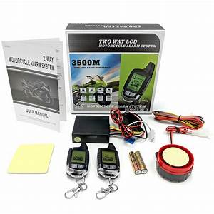 2 Way Motorcycle Alarm Remote Start For Harley Davidson