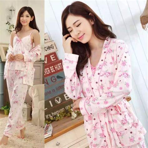 jual baru kimono baju tidur lengan celana panjang katun halus bajutidur murah di lapak