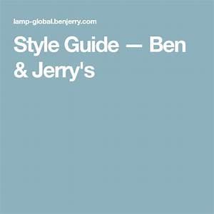 Style Guide  U2014 Ben  U0026 Jerry U0026 39 S
