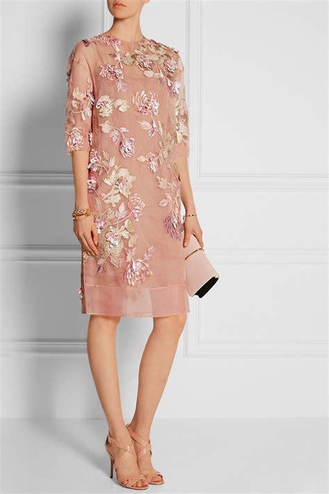biyan ava embellished silk blend organza dress pakaian