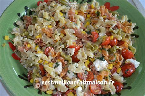 faire une salade de pate salade de p 226 tes multicolores c est meilleur fait maison