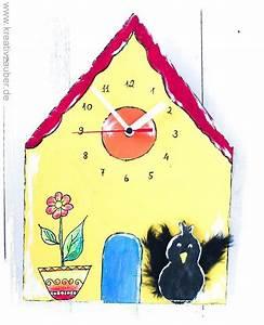 Uhrwerk Mit Zeiger Zum Basteln : vogelhaus uhr basteln inklusive anleitung rohling aus holz v gelchen mit fl geln aus federn ~ Eleganceandgraceweddings.com Haus und Dekorationen