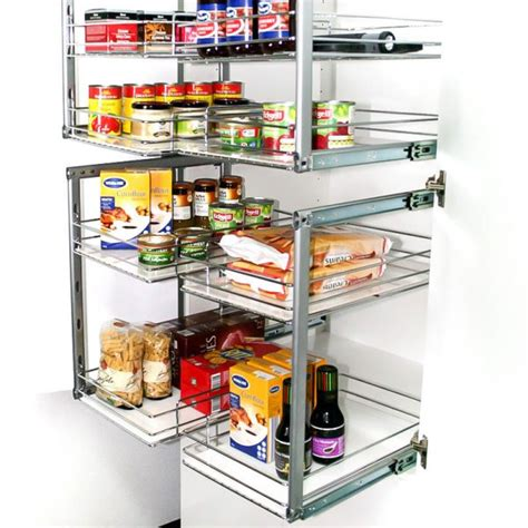 slide out kitchen storage slide out pantry storage for new and existing cabinets 5333