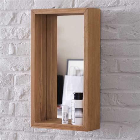 bureau brut miroir en teck stelle vente miroirs salle de bain 55x30