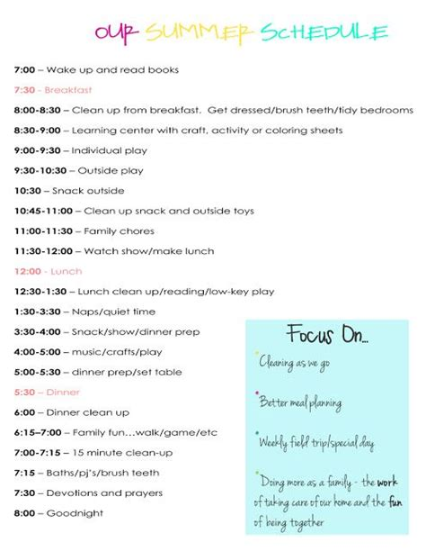 au pair daily schedule template toddler daily schedule need to be better at this with my