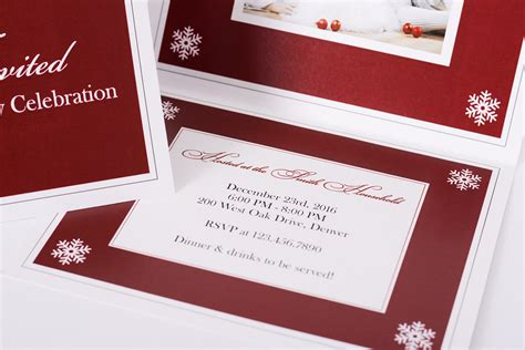 elegant snowflake personalized christmas cards labelsrus