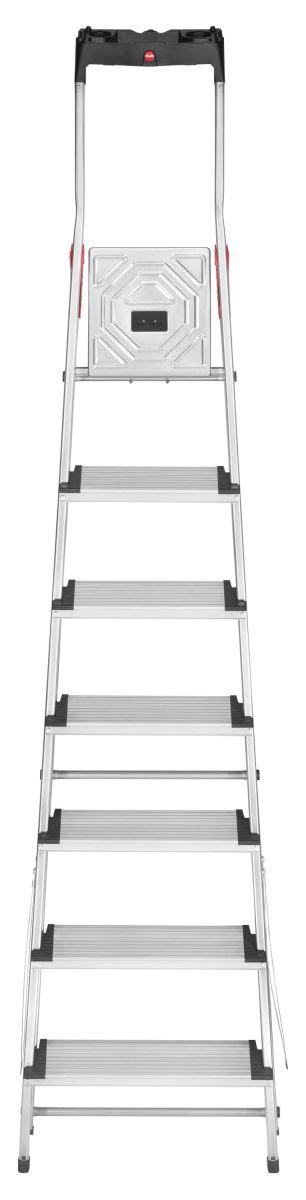haushaltsleiter 7 stufen hailo 7 stufen alu sicherheits haushaltsleiter l80 comfortline stehleiter leiter ebay