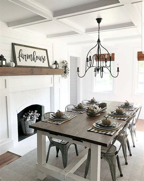 70 Ideas For Dining Rooms by 80 Best Farmhouse Dining Room Makeover Decor Ideas Home