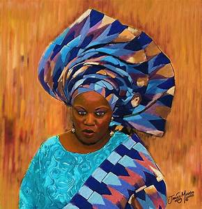 African Woman 5 Painting by James Mingo