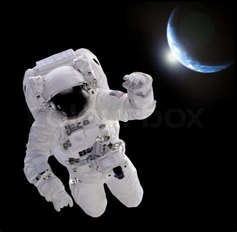 Astronaut in space   Stock Photo   Colourbox