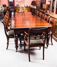 antique william iv mahogany extending dining table and 12