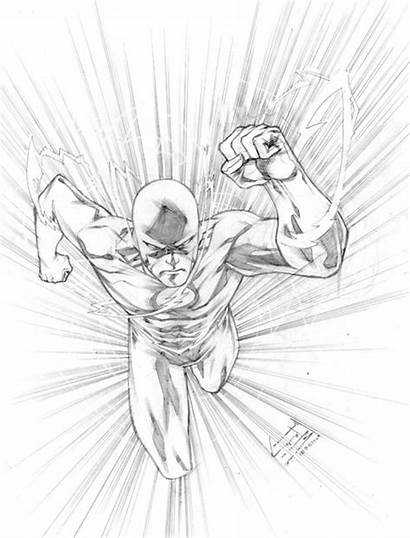 Flash Coloring Pages Manapul Dc Superhero Comics