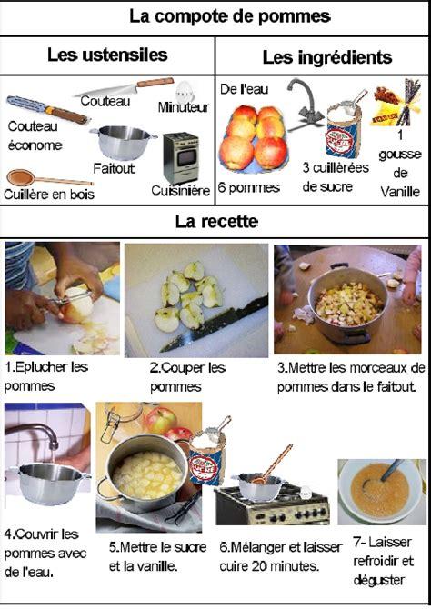 ustensile de cuisine commencant par p la compote de pommes meroute en clis activité en