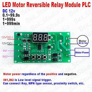 Digital Led Dc 12v Motor Reversible Programmable Delay