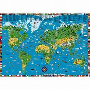 Weltkarte Poster Kinder : landkarten ~ Yasmunasinghe.com Haus und Dekorationen