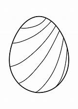 Easter Egg Coloring Eggs Templates Printable Striped Colouring Toddlers Printables Outline Spring Crafts Template Prinables 4kids Coloringpagesonly Chick sketch template