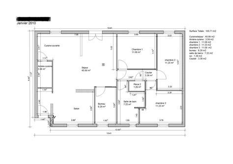 plan maison etage 3 chambres gratuit plan maison 100m2 3 chambres amazing plan maison