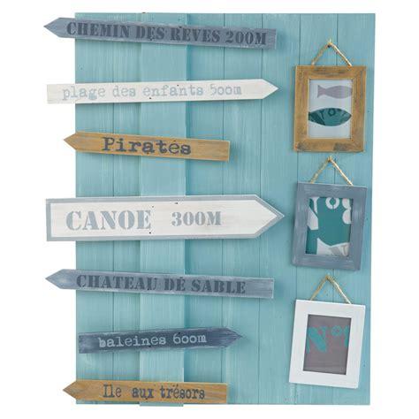 set de bureau fille cadre photo multivues en bois bleu 50 x 60 cm océan maisons du monde